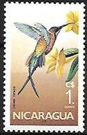 Nicaragua - 1986 MNH - Crimson Topaz (Topaza Pella - Hummingbirds