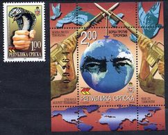 BOSNIAN SERB REPUBLIC 2002 Fight Against Terrorism MNH / **.  Michel 233, Block 6 - Bosnia And Herzegovina