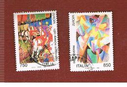 ITALIA REPUBBLICA  - SASS. 2059.2060  -   1993  EUROPA  -            USATO - 6. 1946-.. Repubblica