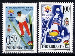 BOSNIAN SERB REPUBLIC 2002 Winter Olympics MNH / **.  Michel 235-36 - Bosnia And Herzegovina