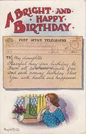 Vintage Donald McGill Postcard; A Bright And Happy Birthday. - Mc Gill, Donald