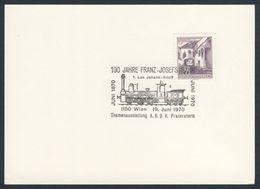 Austria Österreich 1970 Card / Karte / Carte - 100 Jahre Franz-Josefs-bahn / Railway - Treinen