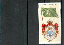 Image Player's Cigarettes A Series Of 50 N°14 National Flags And Arms Egypt Drapeau De L'Egypte Texte Au Dos - Player's