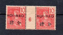 !!! PRIX FIXE : HOI-HAO, PAIRE DU N°36 MILLESIME 6 NEUVE *, UN PETIT PLI DANS LA GOMME - Unused Stamps
