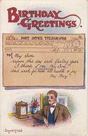 Vintage Donald McGill Postcard; Birthday Greetings - Mc Gill, Donald