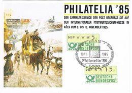 27374. Tarjeta KOLN (Alemania Federal) 1985. Philatelia 85. Post Service - [7] República Federal