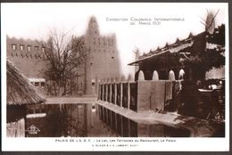 Exposition Coloniale  Internationale De Paris 1931 - Palais De L'Afrique Occidentale Française AOF - Le Lac & Terrasses - Expositions
