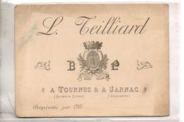 L. Teillard à Tournus Et à Jarnac - Cartes De Visite
