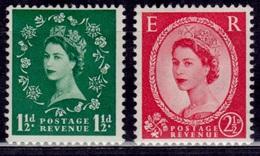 Great Britain, 1952-53, Queen Elizabeth, Sc#294, 296, Used - 1952-.... (Elizabeth II)