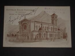 Rare Grenoble 38 Carte De Zélateur Nouvelle Eglise Paroissiale Dédiée Au Sacré-Coeur - Projet Primitif - Offrandes - Grenoble