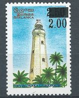 Sri Lanka 1999 Lighthouse Surcharged 2r On 2,50r MNH** - Lot. 4682 - Sri Lanka (Ceilán) (1948-...)