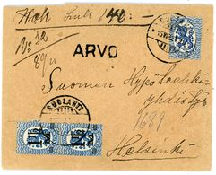 Wertbrief 1921 Suolahti - Helsinki - Lettres & Documents