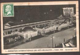 Exposition Internationale Des Art Decoratifs  - Paris 1925  -  Vue De Nuit - Superbe Carte - Expositions