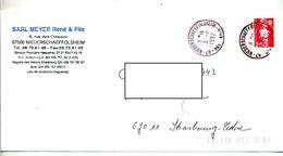 Lettre Cachet Niederschaffolsheim - Marcophilie (Lettres)