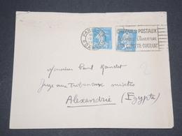 FRANCE - Enveloppe De Paris Pour Alexandrie En 1926 - L 12866 - Postmark Collection (Covers)