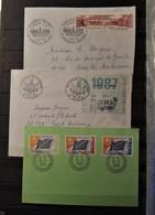 France - 3 Lettres FDC - 1er Jour - Stamps