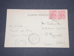 ALGÉRIE - Cachet Perlé De Constantine Sur Carte Postale En 1927  Pour La France- L 12867 - Algérie (1924-1962)