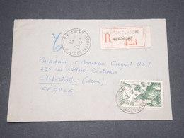 ALGÉRIE - Enveloppe En Recommandé De Maison Blanche En 1949 Pour La France , Obl. Maison Blanche Aéroport - L 12868 - Algérie (1924-1962)