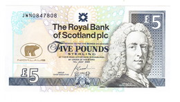 2005 Scotland UNC Jack Nicklaus Commemorative 5 Pound Banknote - 5 Pounds