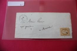 10 Cent Empire Belle Nuance Pâle / Lettre 1857 De Besse (62) - Marcophilie (Lettres)