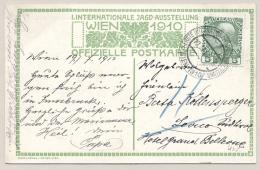 Österreich - 1910 - 5H Franz-Joseph On Card/cancel From Internationale Jagd-Ausstellung Wien To Levico - 1850-1918 Keizerrijk