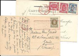 2 Cp  LIEGE 4.IV.1933 Faites Vos Membre CROIX ROUGE (en Rouge) + 12.4.1930 Faites Vos Vaccciner Contre La DIPHTERIE (rou - 1922-1927 Houyoux