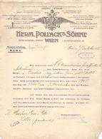 Factuur Facture - Brief Lettre - Weverij Weberei Herm. Pollack's Sohne - Wien Wenen 1913 - Austria