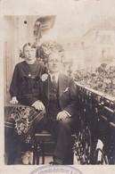 JOLIE CARTE PHOTO PRISE SUR LA TERRASSE DE L HOTEL SCHLAPFER A ZURICH / 1919 - ZH Zurich