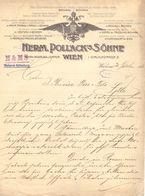 Factuur Facture - Brief Lettre - Weverij Weberei Herm. Pollack's Sohne - Wien Wenen 1913 - Autriche