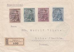 Bohême Et Moravie Lettre Recommandée Budweis 1942 - Covers & Documents