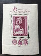 Ungheria - 1958 - Foglietto Costume Kazar - MNH ** - Blocchi & Foglietti