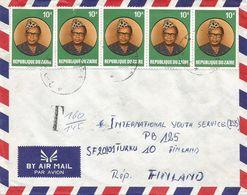 Zaire DRC Congo 1979 Uvira Mobutu Taxed Cover Via Bujumbura - 1971-79: Afgestempeld