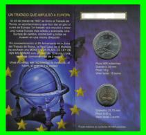 CARTERA OFICIAL EUROSET 12 EUROS ESPAÑA 2007 +2€ (TRATADO ROMA) - Spanien