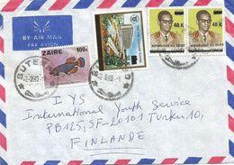 Zaire DRC Congo 1980 Butembo President Mobuto 40k On 9.6k Overprint Michel 544 30k Hotel Overprint Michel 543 100k Cover - Zaïre