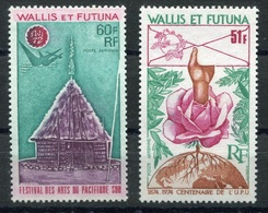 RC 6975 - WALLIS ET FUTUNA PA 42 + PA 56 ARTS DU PACIFIQUE + UPU COTE 17€ NEUF ** TB - Ungebraucht