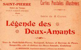 27-SUPERBE POCHETTE COMPLETE DE 5 CPA DE PONT-SAINT-PIERRE - France