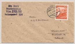 Österreich - 1948 - 20g Single On Cover From Wien To Wassenaar / Nederland - 1945-.... 2. Republik