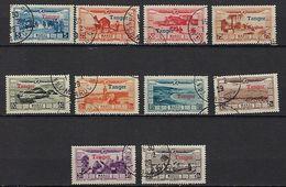 """Maroc Aerien YT 22 à 31 """" Surcharge Tanger """" 1928 Oblitéré - Marokko (1891-1956)"""