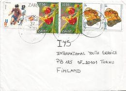 Zaire DRC Congo 1989 Kinshasa World Cup Football Spain 3Z Flower 37.50Z Uranium Mineral 1Z Cover - Zaïre