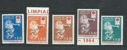 Paraguay - Yvert Série     N°742 à 746  ** Surchargé Muestra ( Specimen) - Cw 30003 - Paraguay