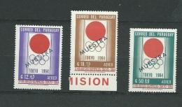 Paraguay  - Aérien     - Yvert Série     N°373   à  375  ** Surchargé Muestra ( Specimen) - Cw 30104 - Paraguay