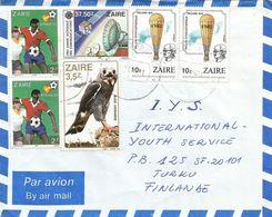 Zaire DRC Congo 1989 Mbanza-Ngungu World Cup Football Spain 2Z Eagle 3.5Z Piccard 10Z Communications 37.50Z Cover - Zaïre