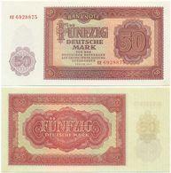 DDR 1955, 50 Mark, Deutsche Notenbank, KN 7stellig, Geldschein, Banknote - 50 Deutsche Mark