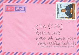 DRC Congo 2001 Bukavu 2 Code Letter A President Kabila 350 FC  Cover - Afgestempeld