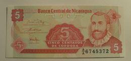 1991 - Nicaragua - 5 CENTAVOS DE CORDOBA, A/A 6745372 - Nicaragua