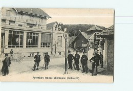 La SCHLUCHT - Frontière Franco Allemande - Douaniers De Service - 2 Scans - Douane