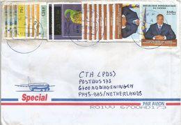 DRC Congo 2001 Kimpese Prehistory Scutellosaurus 25 FC Overprint President Kabila Cover - République Démocratique Du Congo (1997 -...)