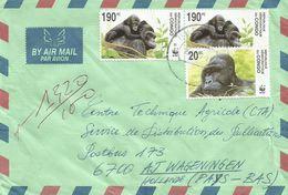 DRC Congo 2007 Butembo WWF Gorilla 20FC 190FC Cover - W.W.F.