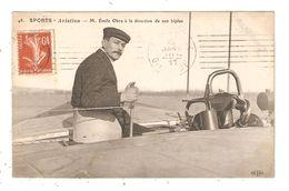 CPA Aviation Emile OBRE à La Direction De Son Biplan 1911 - Piloten