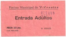 Entrada - Piscina Municipal VILVESTRE - Tickets - Entradas